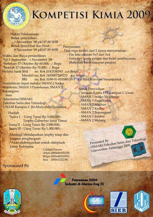 pamflet kompetisi kimia